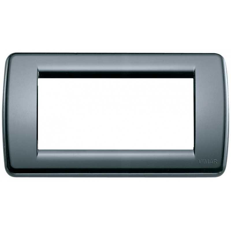 Placca Vimar Idea Rondo' 4 Moduli  grigio grafite 16764.15