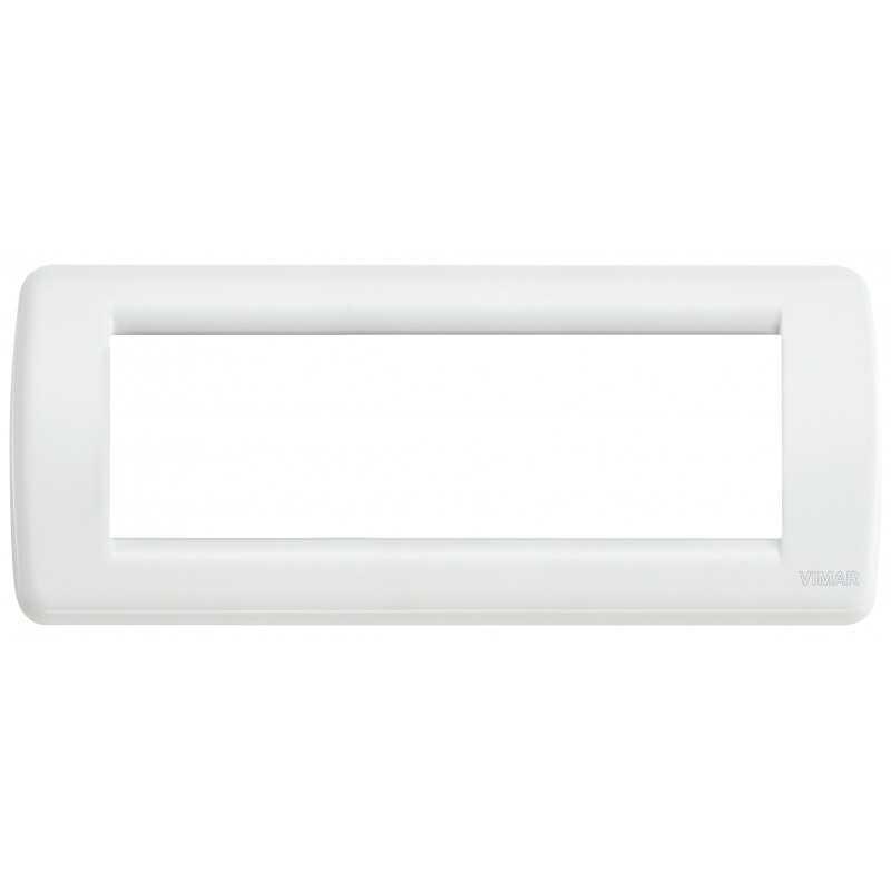 Placca Vimar Idea Rondo' 6 Moduli bianco in metallo 16756.01