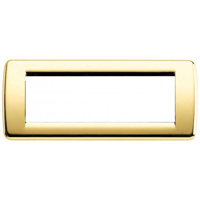 Placca Vimar Idea Rondo' 6 Moduli oro lucido metallo 16756.32