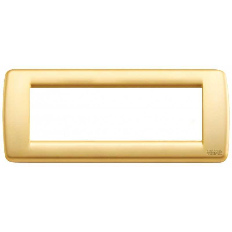 Placca Vimar Idea Rondo' 6 Moduli oro opaco metallo 16756.33