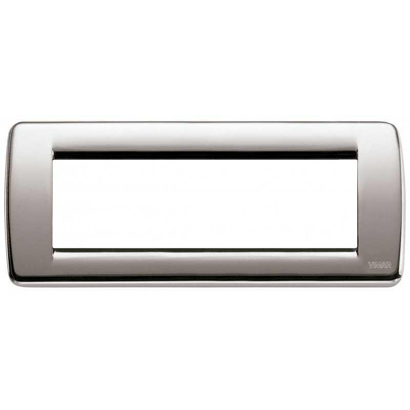 Placca Vimar Idea Rondo' 6 Moduli nichel spazzolato 16756.34