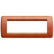 Placca Vimar Idea Rondo' 6 Moduli ciliegio legno naturale 16756.53