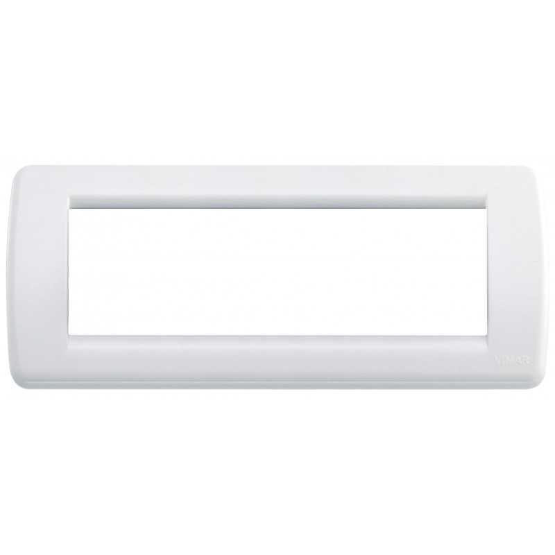 Placca Vimar Idea Rondo' 6 Moduli bianco brillante 16766.01