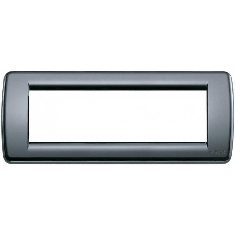 Placca Vimar Idea Rondo' 6 Moduli  grigio grafite 16763.15