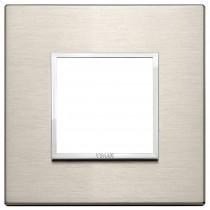 Placca Vimar Eikon Evo 2 moduli bronzo chiaro codice 21642.04