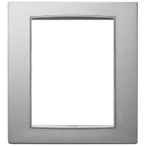 Placca Vimar Eikon Next Classic  8 moduli (4+4) argento matt 20668N13