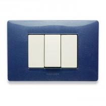 Placca Master Mix Blu vega in tecnopolimero 3 posti 21MX353
