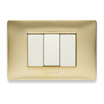 Placca Master Mix Oro karat in tecnopolimero 3 posti 21MX243