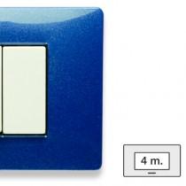 Placca Master Mix Blu vega in tecnopolimero 4 posti 21MX354