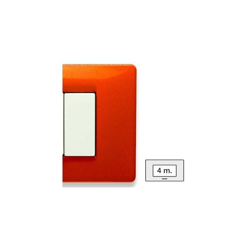 Placca Master Mix Arancio tibet  in tecnopolimero 4 posti 21MX334