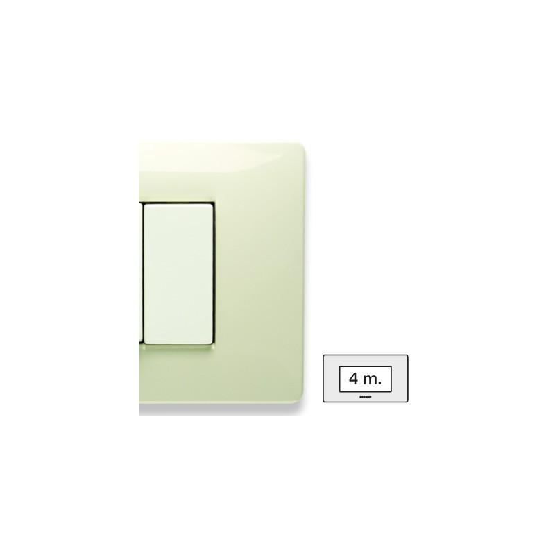 Placca Master Mix Bianco safari in tecnopolimero 4 posti 21MX284