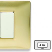 Placca Master Mix Oro karat in tecnopolimero 4 posti 21MX244