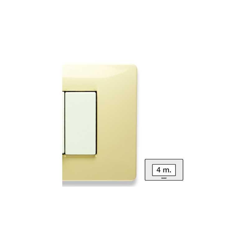 Placca Master Mix Bianco Parigi in tecnopolimero 4 posti 21MX124