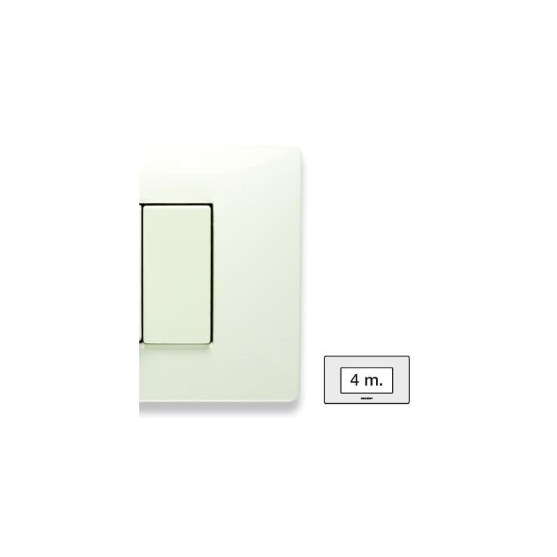 Placca Master Mix Bianco aspen in tecnopolimero 4 posti 21MX104