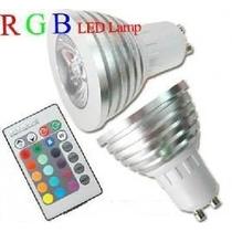 LAMPADA A LED RGB 1X3W GU10 CON TELECOMANDO