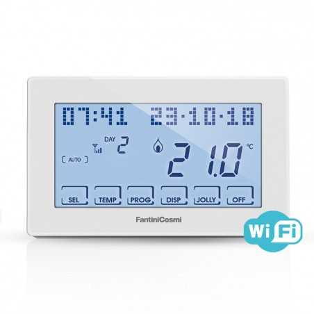 cronotermostato wifi fantini intellicomfort display lcd
