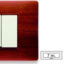 Placca Master Mix Essenza cherry in tecnopolimero 7 posti 21MX417
