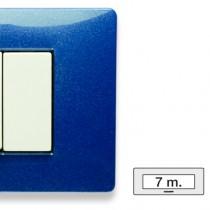 Placca Master Mix Blu vega in tecnopolimero 7 posti 21MX357