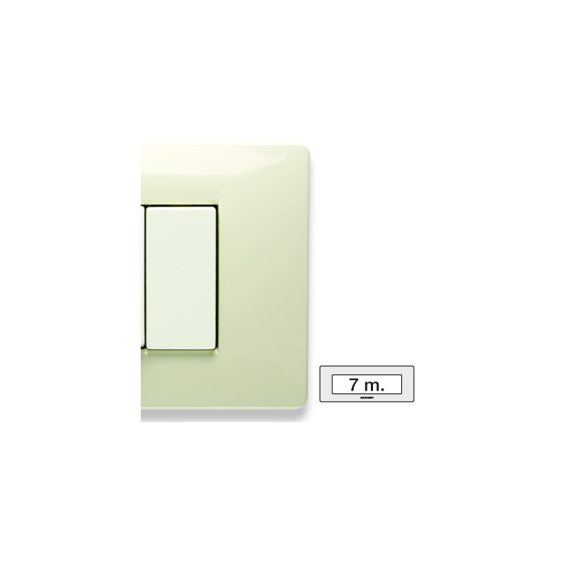 Placca Master Mix Bianco safari in tecnopolimero 7 posti 21MX287