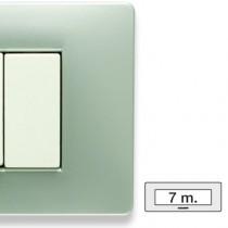 Placca Master Mix Grey moon in tecnopolimero 7 posti 21MX257
