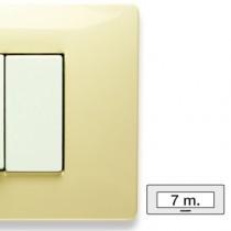 Placca Master Mix Bianco Parigi in tecnopolimero 7 posti 21MX127
