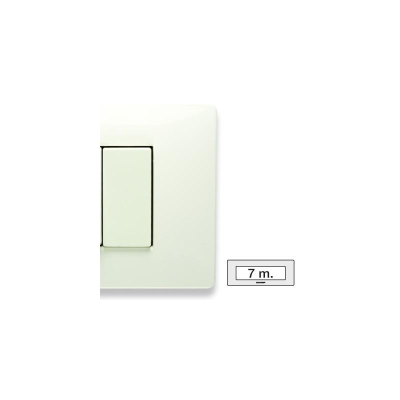 Placca Master Mix Bianco aspen in tecnopolimero 7 posti 21MX107