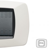 Placca Master Modo Bianco in tecnopolimero 2 posti 39TC102
