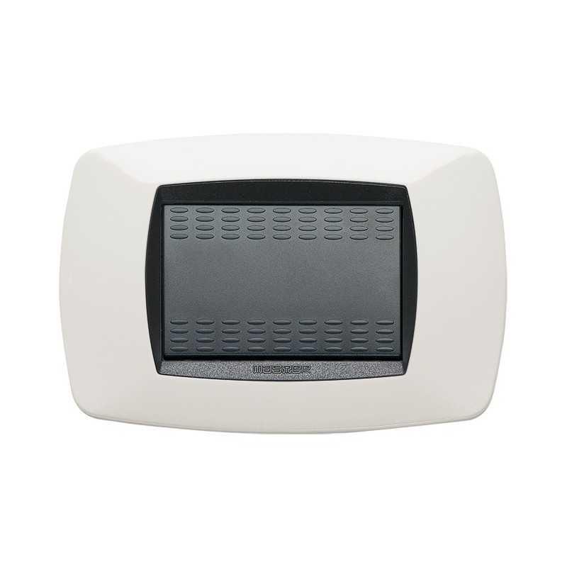 Placca Master Modo Bianco in tecnopolimero 3 posti 39TC103