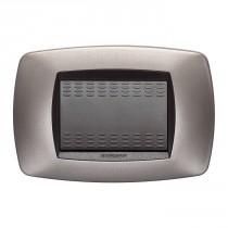 Placca Master Modo Bronzo opaco in tecnopolimero 3 posti 39TC553