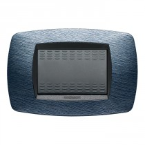 Placca Master Modo Satinato blu  in tecnopolimero 3 posti 39TC523