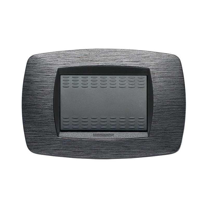 Placca Master Modo Satinato grigio  in tecnopolimero 3 posti 39TC513