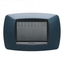 Placca Master Modo Blu notte in tecnopolimero 3 posti 39TC353