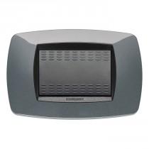 Placca Master Modo Grigio metallizzato in tecnopolimero 3 posti 39TC193