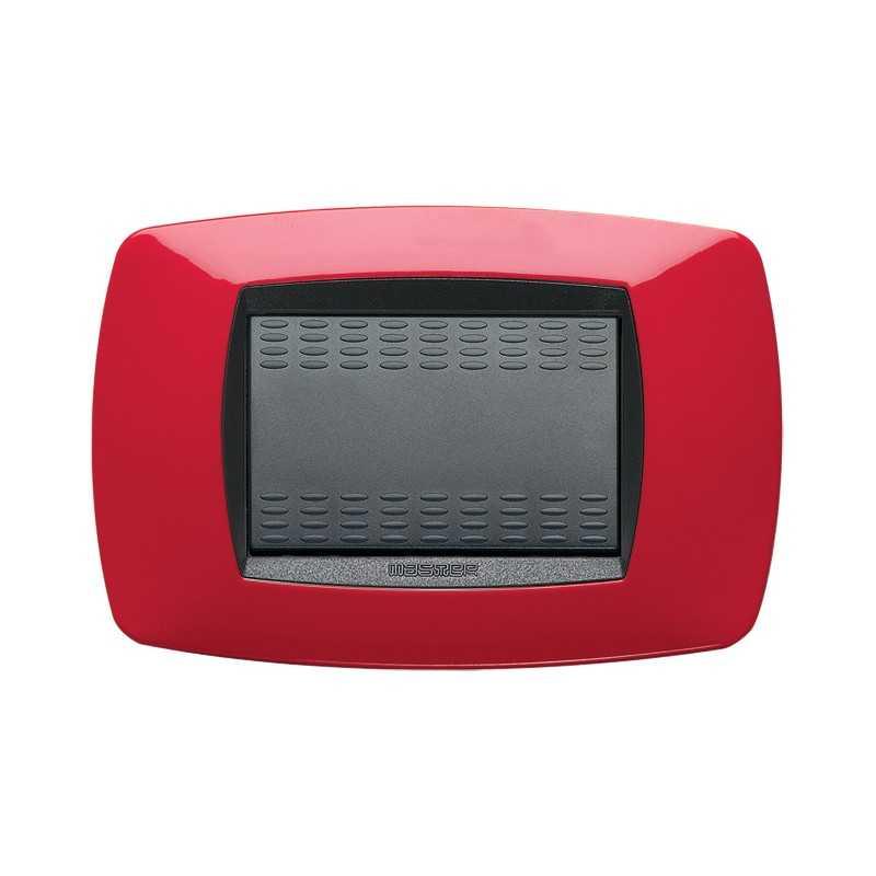 Placca Master Modo Rosso in tecnopolimero 3 posti 39TC153