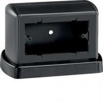 Torretta porta apparecchi Bocchiotti TOR bifacciale 4 moduli riducibile a 3 NERO ARDESIA B02090