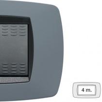Placca Master Modo Grigio soft in tecnopolimero 4 posti 39TC744