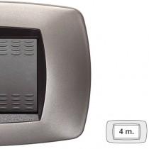 Placca Master Modo Bronzo opaco in tecnopolimero 4 posti 39TC554