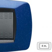 Placca Master Modo Blu vio in tecnopolimero 4 posti 39TC364