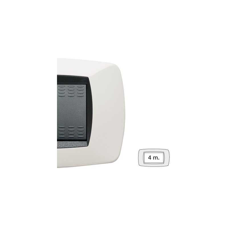 Placca Master Modo Bianco in tecnopolimero 4 posti 39TC104