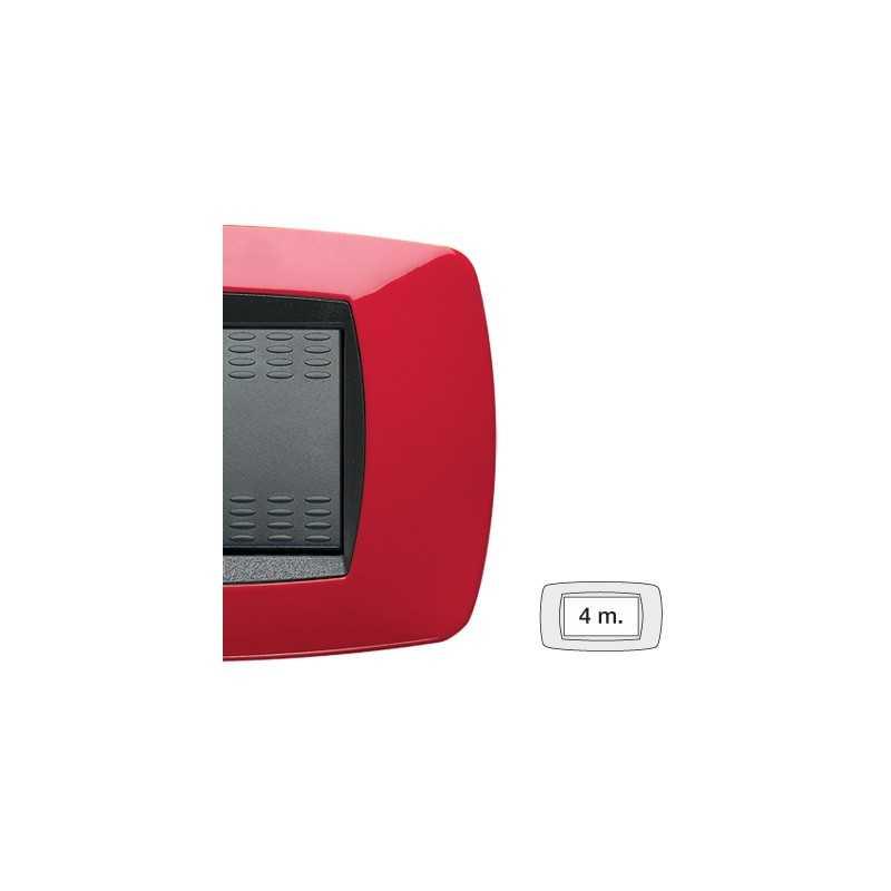 Placca Master Modo Rosso in tecnopolimero 4 posti 39TC154