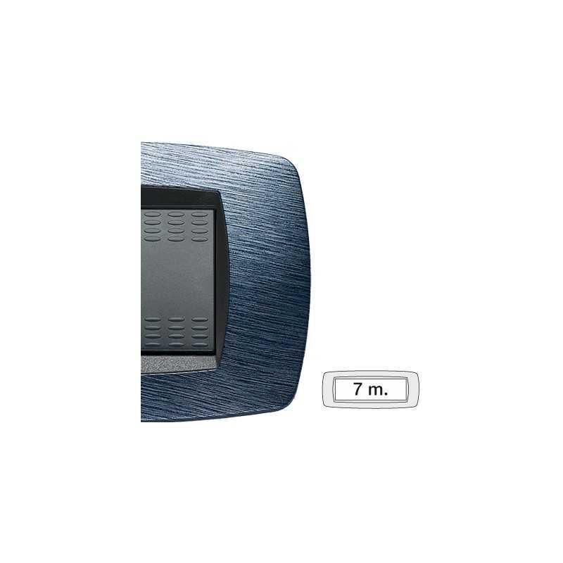 Placca Master Modo Satinato blu in tecnopolimero 7 posti 39TC527