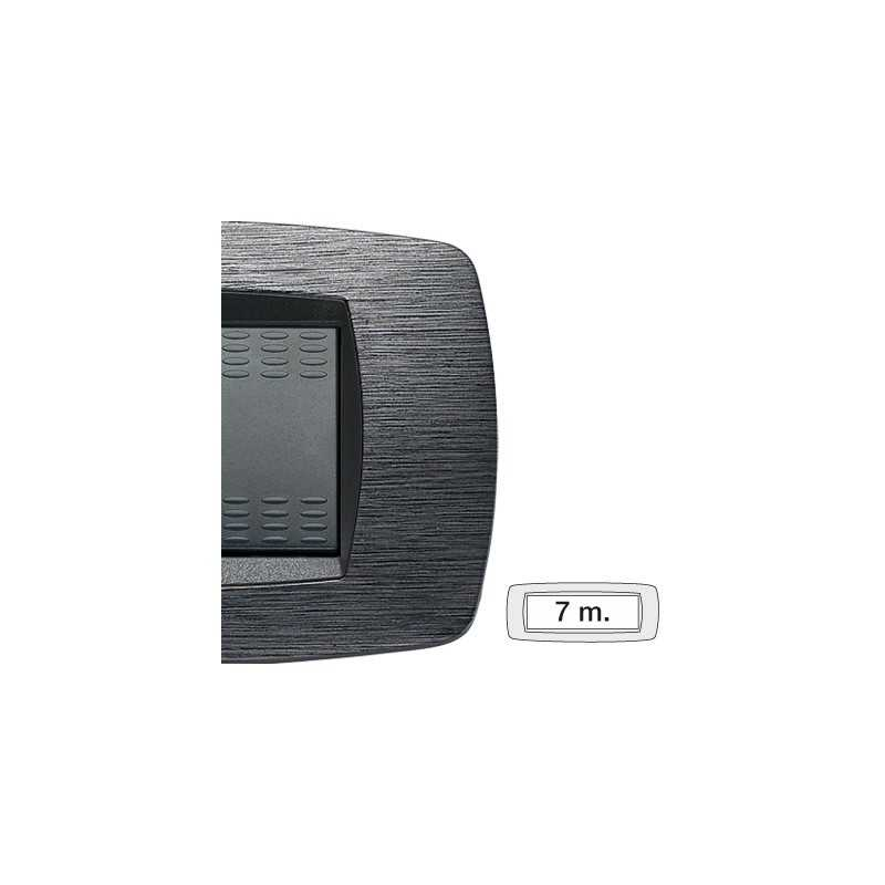 Placca Master Modo Satinato grigio in tecnopolimero 7 posti 39TC517