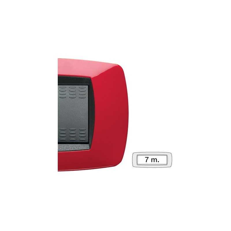 Placca Master Modo Rosso in tecnopolimero 7 posti 39TC157