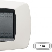 Placca Master Modo Bianco in tecnopolimero 7 posti 39TC107