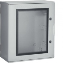 Quadro Bocchiotti VTR 03 OBLO' in Vetroresina porta trasparente IP66 54 moduli B04623