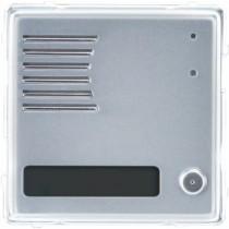 Modulo Sinthesi Urmet in alluminio anodizzato posto esterno con 1 pulsante 1148/21