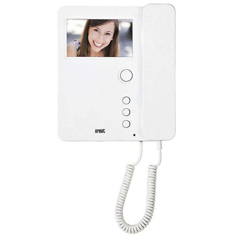 Monitor Urmet a colori per sistema due fili 2 Voice colore bianco 1750/1