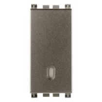 Interruttore illuminabile Vimar Arkè 1P 16AX Metal 19001.M