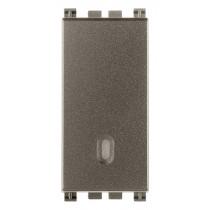 Deviatore unipolare illuminabile Vimar Arkè 16A Metal 19005.M