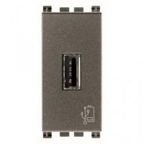 Presa di alimentazione USB 5V 1,5 A Vimar Arkè serie Metal 19292.M